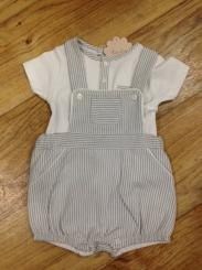 Patachou Boys Spanish Grey Short Romper Set