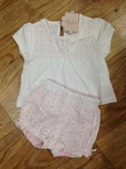 Patachou Girls Top And Short Set