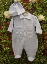 Coco Boys Blue All In One & Hat CCA3127