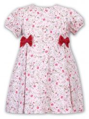 Sarah Louise Winter Dress Floral Print With Short Sleeve 011671