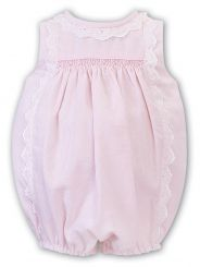 Dani by Sarah Louise Girls Summer Pink and White Stripe Bubble D09426