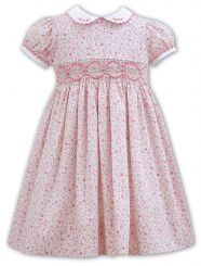 Sarah Louise Ditsy Floral Smocked Dress 011136
