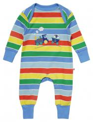 Piccalilly Rainbow Train Applique Playsuit