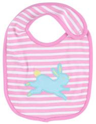 Piccalilly Bunny Applique Reversible Bib
