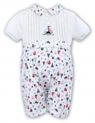 Sarah Louise Baby Boys Nautical Romper 010375