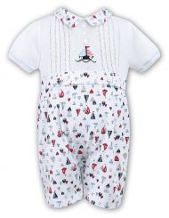 Sarah Louise Boys Sailor Print Summer Romper 010375