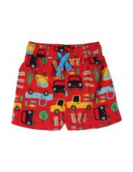 Frugi Little Beach Shorts Tomato Road Trip