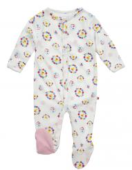 Piccalilly Nursery Floral Duck Sleepsuit