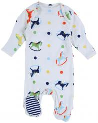 Piccalilly Rocking Horse Footed Sleepsuit