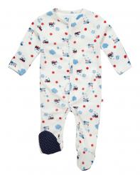 Piccalilly Steam Train Sleepsuit