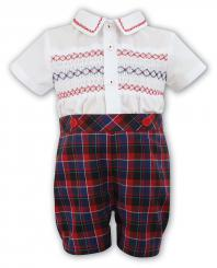 Sarah Louise Boys Checked Two Piece 010608