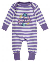 Piccalilly Farm Train Applique Playsuit