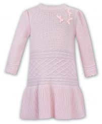 Dani By Sarah Louise Pink Knitted Winter Dress D09358