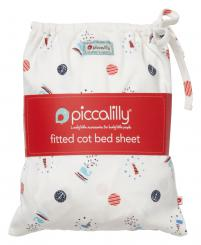 Piccalilly Sailor Spot Cot Sheet In A Bag