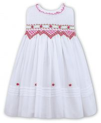 Sarah Louise No Sleeved Smocked Voile Dress 011490