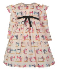 Little Lord & Lady Little Treasure Eugenie Sewing Print Dress & Headband