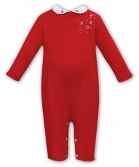 Sarah Louise Girls Winter Knitted Romper Red 018132
