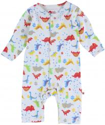 Piccalilly Footprint Dinosaur Romper