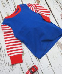 Blade & Rose Blue Top With Stripes