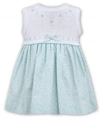 Sarah Louise Sleeveless Dress With Mint Green Detail 011553