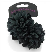 Flower Hair Bobbles - Two Pack: Brown