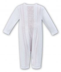 Dani By Sarah Louise Knitted All In One White/Pink D09252