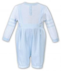 Dani By Sarah Louise Boys Winter Romper Pale Blue And White D09387