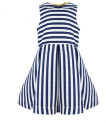 Little Lord & Lady Little Treasure Scarlett Bold Stripe Dress