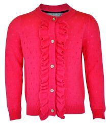 Little Lord & Lady Anna Coral Frill Cardigan