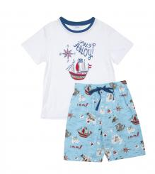 mini jammies Harry Short Sleeve Top & Pirate Print Short Pyjama