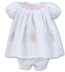 Sarah Louise Summer Bow Embroidered Dress With Pants 011050