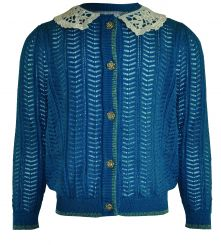 Little Lord & Lady Winifred Teal Pointelle Cardigan