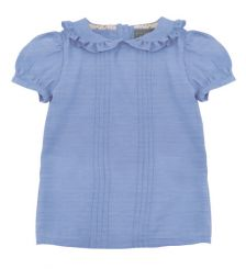 Little Lord & Lady Floris Blue Chambray Blouse