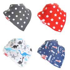 Zippy Baby Boys Bandana Dribble Bib 4 Pack Uptown Boys