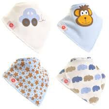Zippy Baby Boys Bandana Dribble Bib 4 Pack Cute