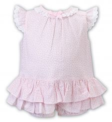Dani by Sarah Louise Summer Ditsy Pink Romper D09495