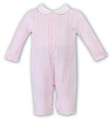 Sarah Louise Girls Winter Knitted Pink Romper 008087