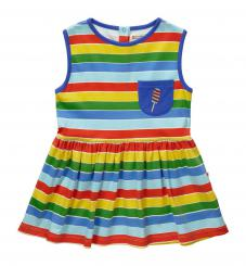 Piccalilly Rainbow Stripe Dress