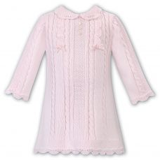 Sarah Louise Girls Winter Knitted Pink Dress 008091