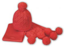 Sarah Louise Girls Red Hat And Scarf Set 008052AP