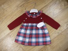 Martin Aranda Red Tartan Winter Dress