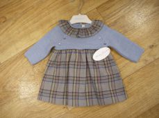 Martin Aranda Blue Tartan Winter Dress