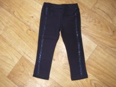 Losan Girls Navy Leggings With Gems