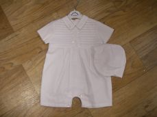Sarah Louise Short Sleeved Christening Romper 9214
