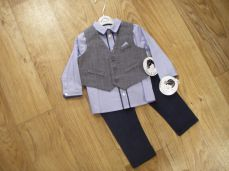 Sarah Louise Boys Three Piece Set Waist Shirt & Trousers 010967
