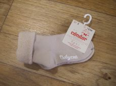 Condor Baby CND Terry Booties With Folded Cuff Beige