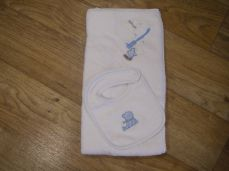 Pex My First Towel & Bib Blue