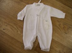 Pex Velour My First Sleepsuit