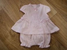 Coco Girls Pink Butterfly Top & Short Set CCS5580