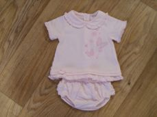 Coco Girls Summer Pink Butterfly Top & Pants Set CCS5585